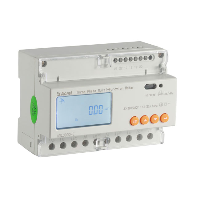 3 phase 4 wire rail type energy meter