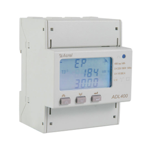 Accuracy 0.5S three phase rail mounted energy meter support multi tariff and pulse output ADL400